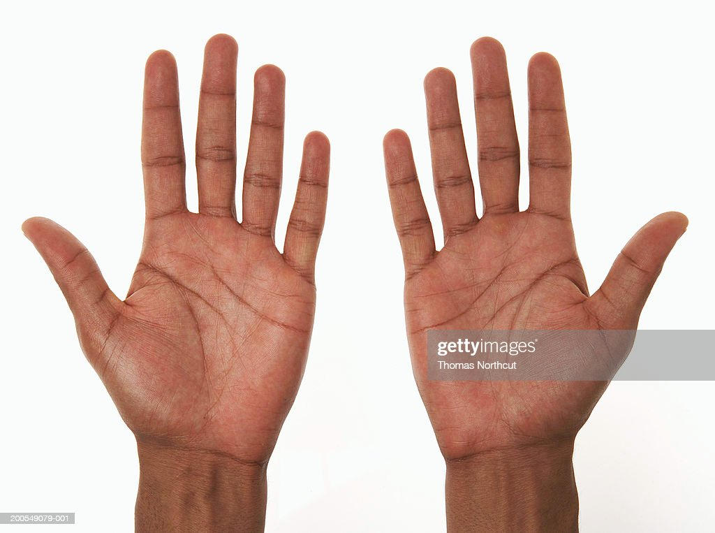 Young man, close-up of hands : Stock Photo