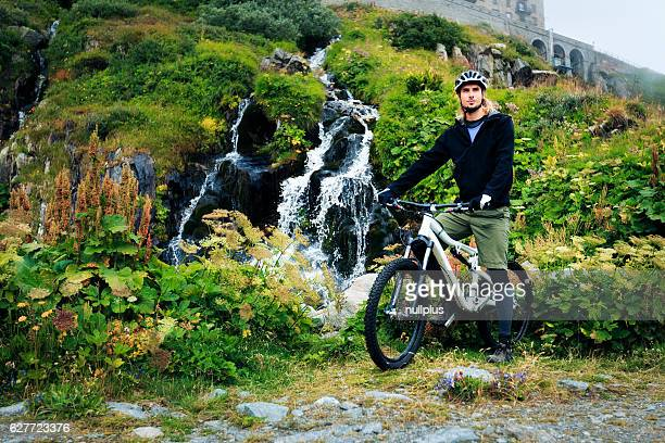 Young Man Cycling