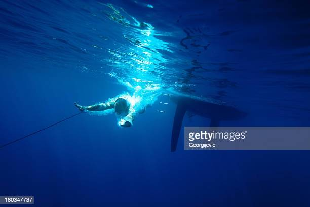 Young man dived into the Sea