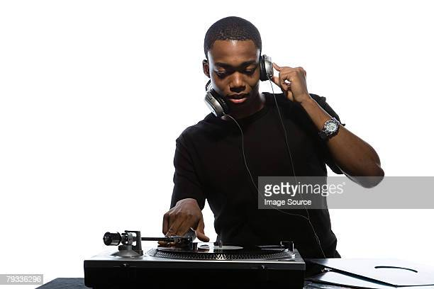 young man djing - dj stock pictures, royalty-free photos & images