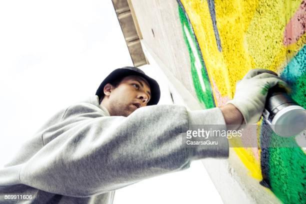 Young Man Doing Graffiti