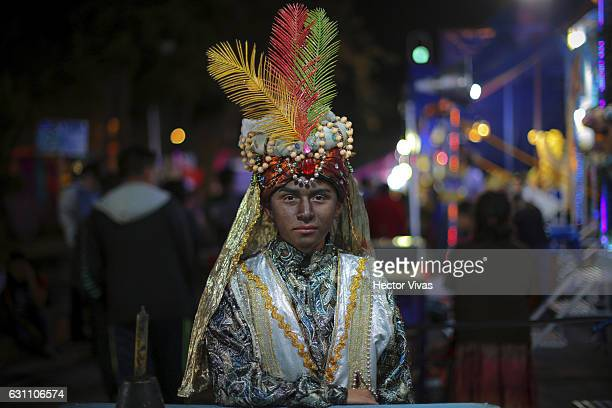 A young man dressed as Wise Man poses during the The Three Wise Man day also known as the Epiphany is celebrated in Spain and many Latin American...