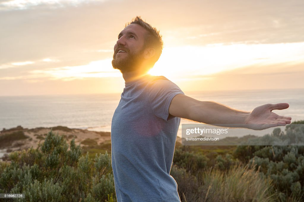Young man enjoying life : Stock Photo