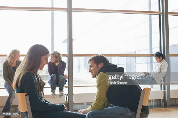 Young Man Flirting Woman