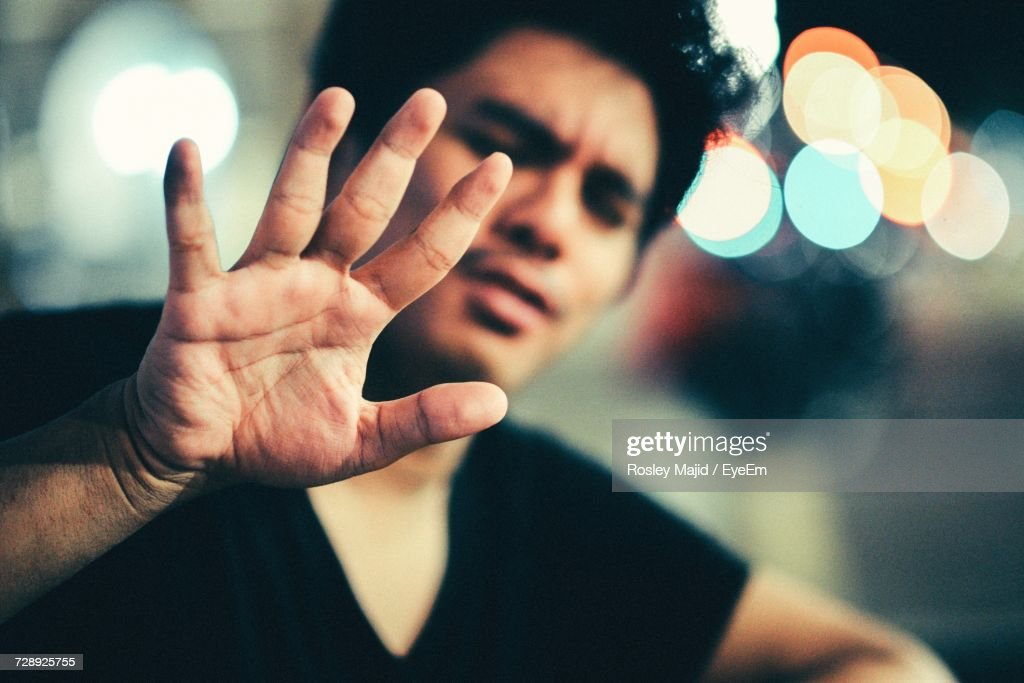 Young Man Gesturing : Stock Photo