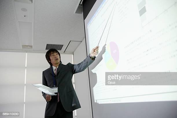 Young Man Giving Presentation