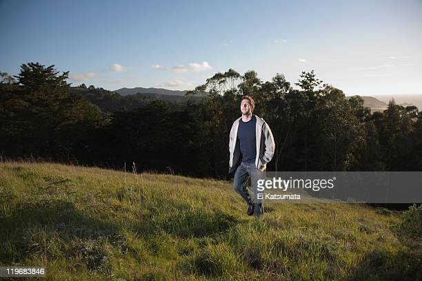 young man hiking - san bruno stock pictures, royalty-free photos & images