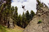 he brings bike sideways through air