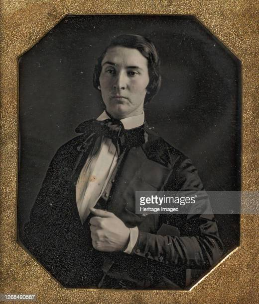 Young Man Holding Jacket Lapel, 1840s. Artist Unknown.