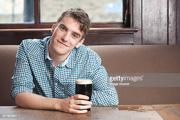 young man in bar - borough of lewisham stock pictures, royalty-free photos & images