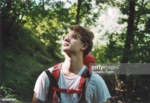 Young Man In Forest
