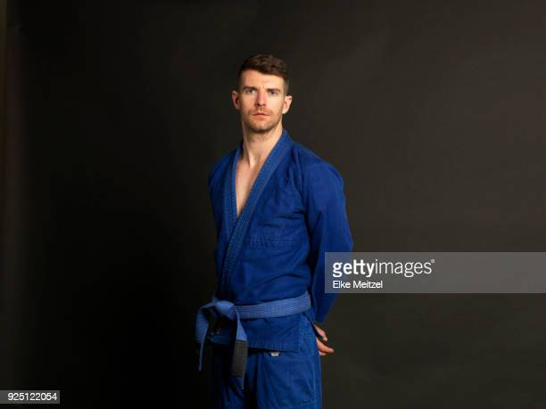 young man in martial arts outfit