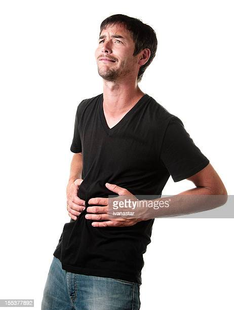 Young Man in Pain With Stomachache