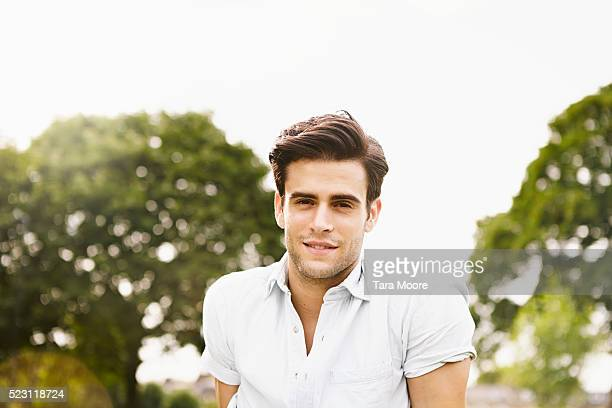 Young man in park