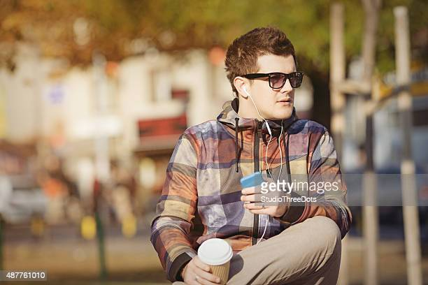 young man in the city - studio city stock pictures, royalty-free photos & images