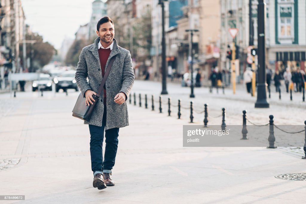 Young man in the city : Stock Photo