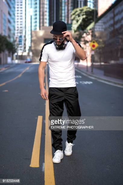 Young man in the city