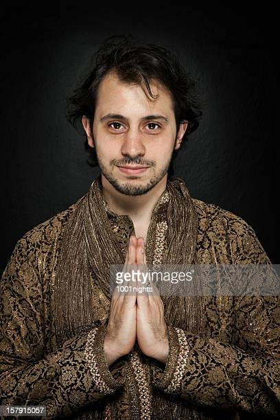 young man in traditional indian clothes - kurta stock pictures, royalty-free photos & images