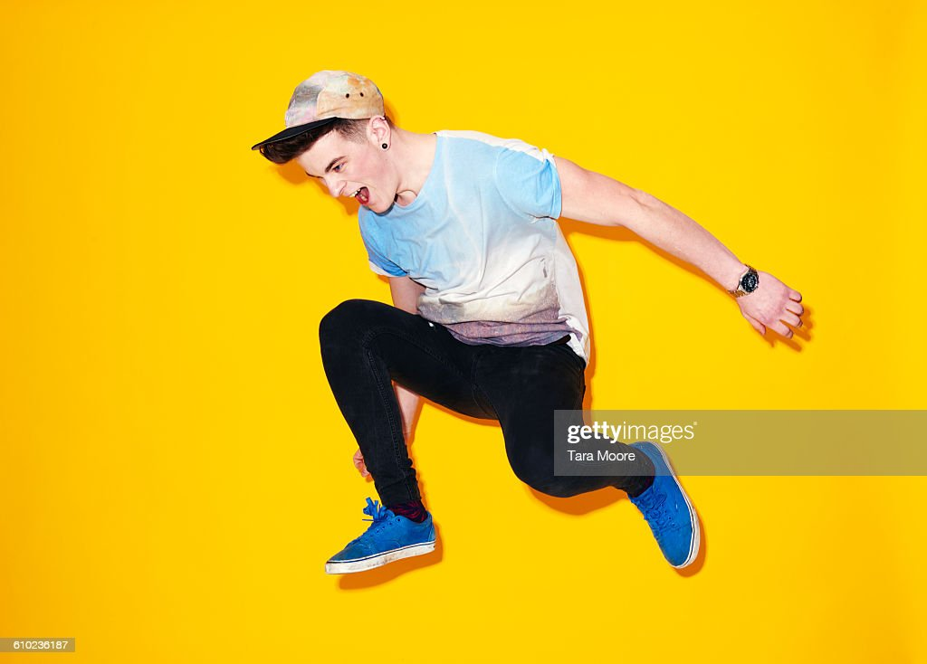 young man jumping : Stock Photo