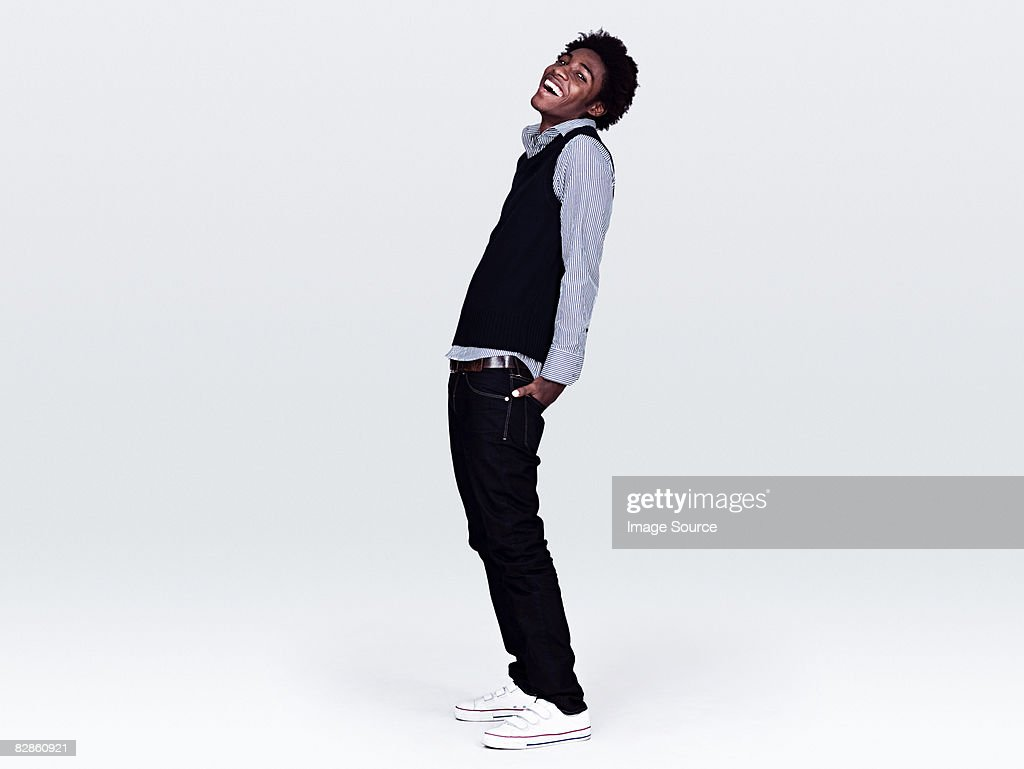 Young man laughing : Stockfoto
