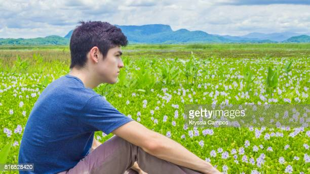 Young man looking away at Palo Verde Swamp, Palo Verde National Park