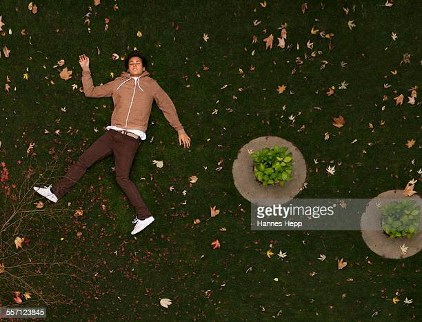 Young Man Lying in the Grass