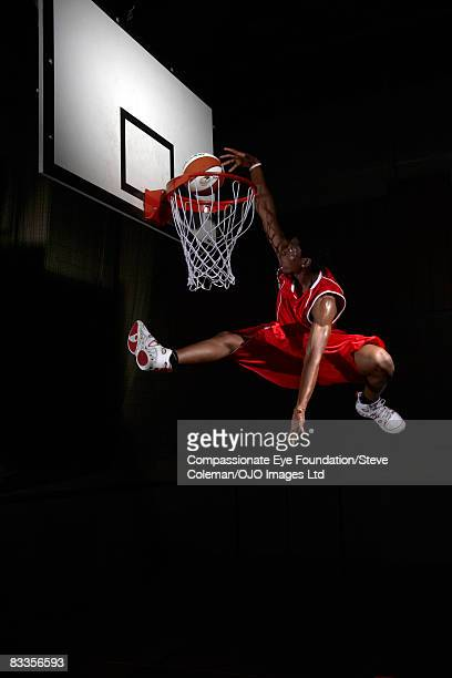 Young man making a fancy dunk