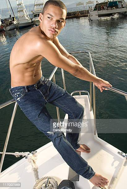 Young Man On A Boat