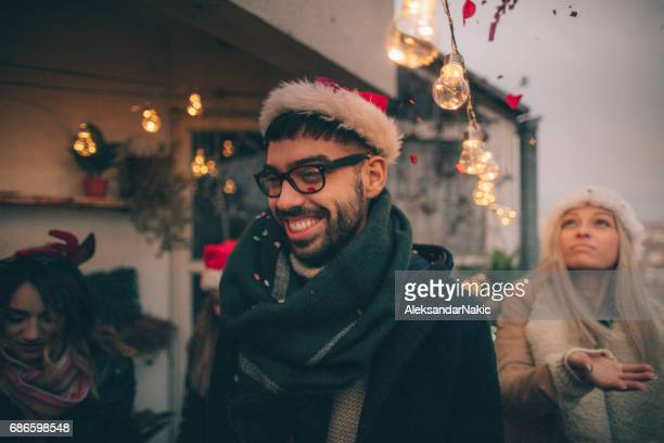 young man on a christmas celebration - mexican christmas stock photos and pictures