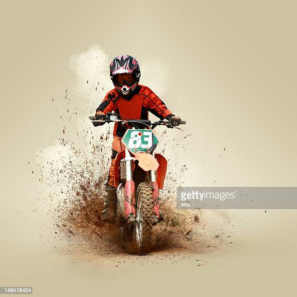 young man on his motorcycle - scrambling stock photos and pictures