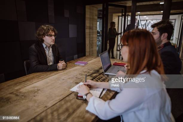 Young Man On Job Interview