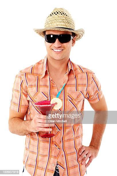Jeune homme en vacances-isolé