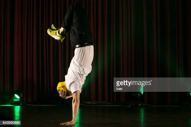 Young Man Performs Break Dance