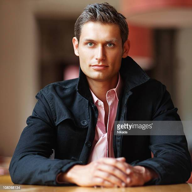 young man - gray eyes stock pictures, royalty-free photos & images