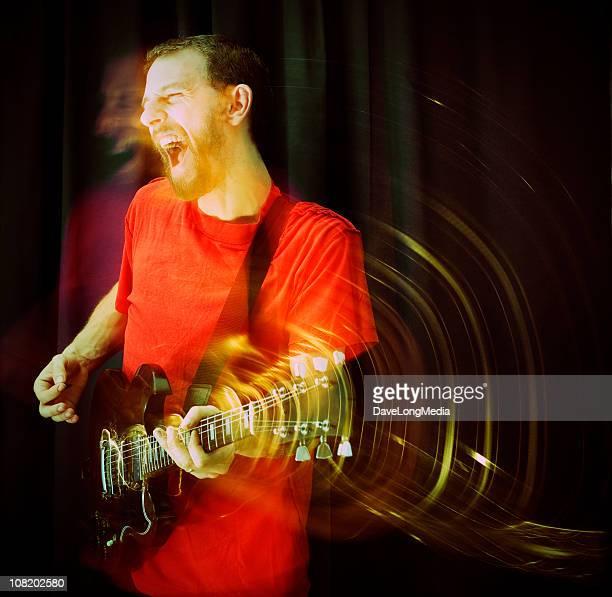 Jovem Tocar Guitarra, Borrão de movimento