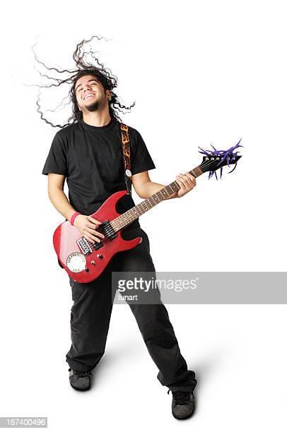 giovane uomo che suona la chitarra - chitarrista foto e immagini stock