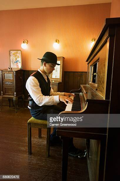 Young Man Playing Piano