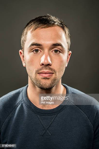 young man portrait - stubble stock pictures, royalty-free photos & images