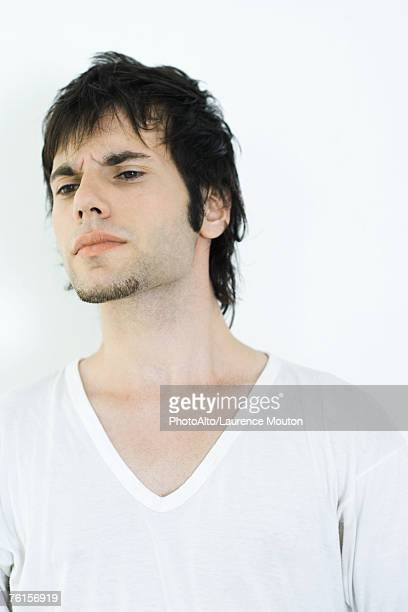 """""""young man, portrait"""" - v neck stock photos and pictures"""