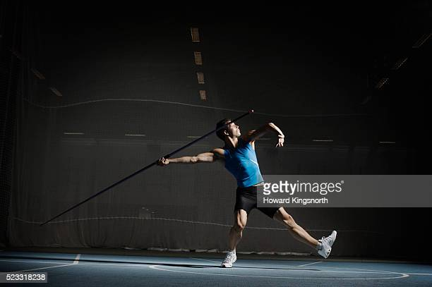Young Man Preparing to Throw Javelin
