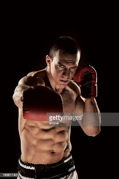 Young Man Shadow Boxing