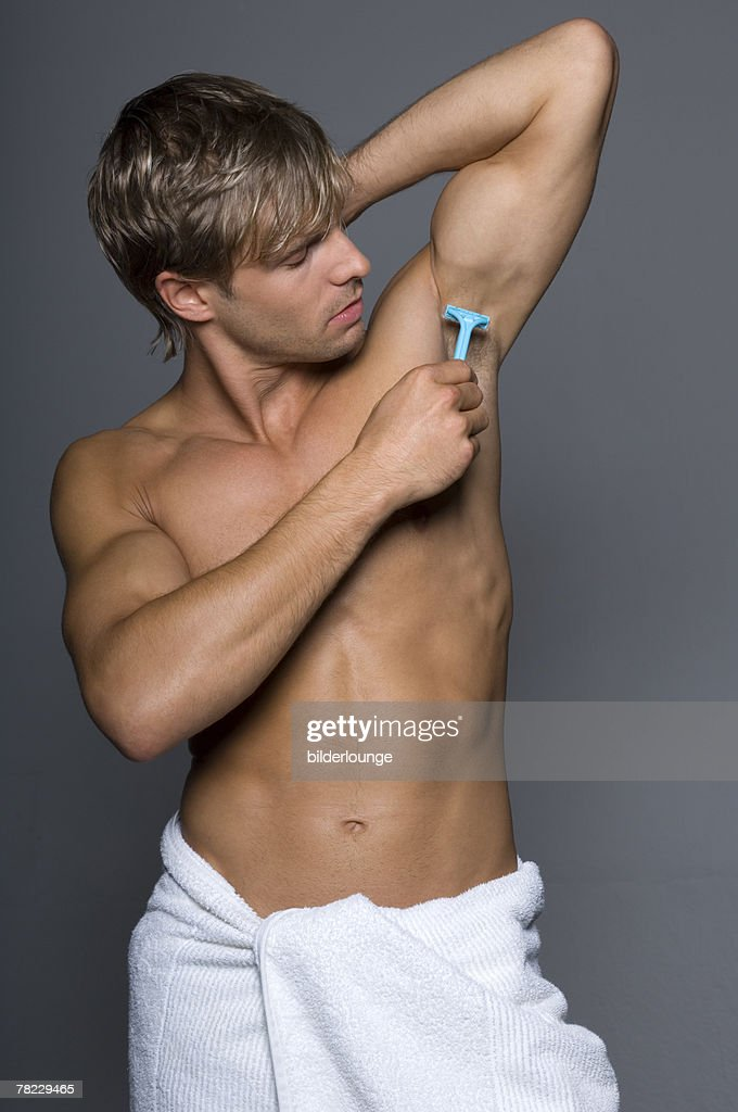 Muscular gay males armpit hair kisses fat