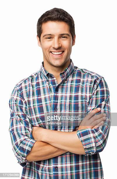 giovane uomo sorridente isolato - solo un uomo giovane foto e immagini stock
