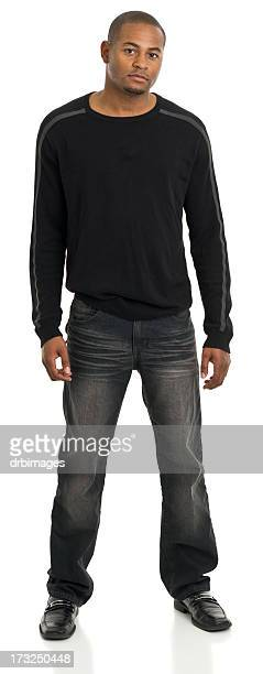 Young Man Standing Full Length Portrait