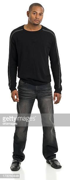 Jeune homme debout, Portrait pleine longueur