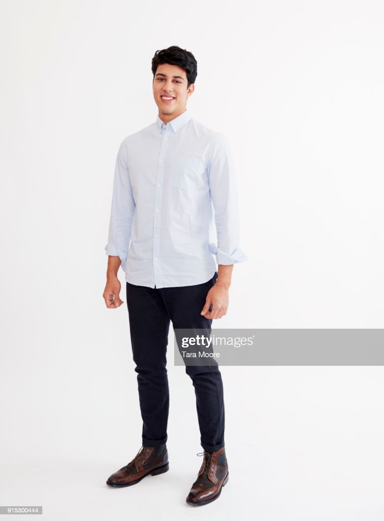 young man standing : Stock Photo