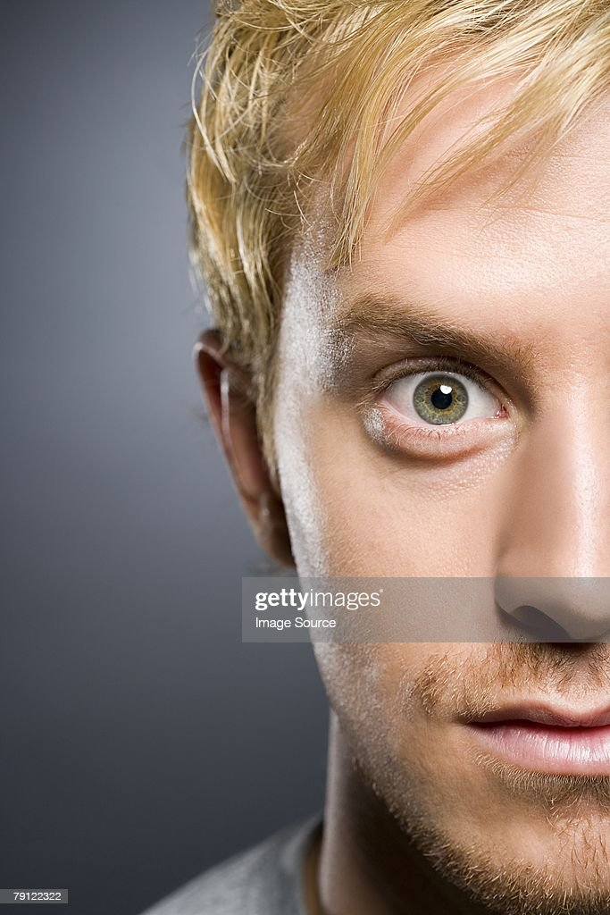Young man staring : Stock Photo