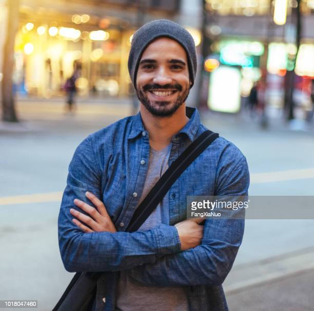 young man street portrait - southern european descent stock pictures, royalty-free photos & images