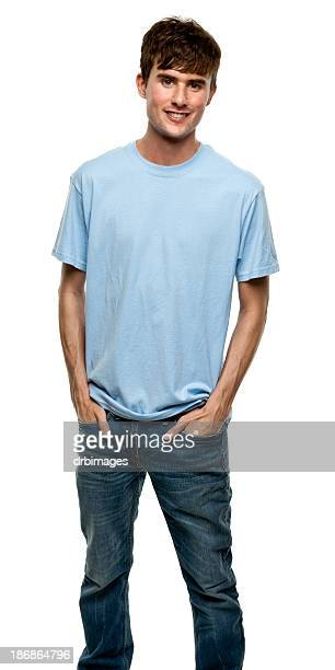 young man three quarter portrait - three quarter front view stock pictures, royalty-free photos & images