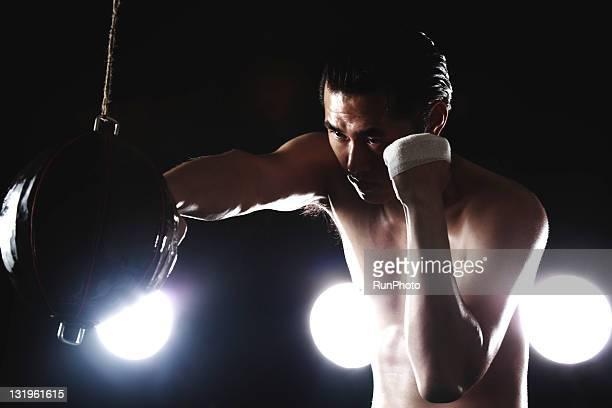 young man training,boxing
